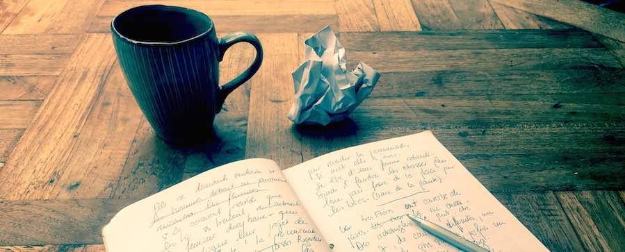 manuscrit et recherche d' inspiration